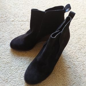 Lucky brand black leather boots, NWT